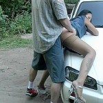 Girls are mischievous about studs with cars and acquiescent tools